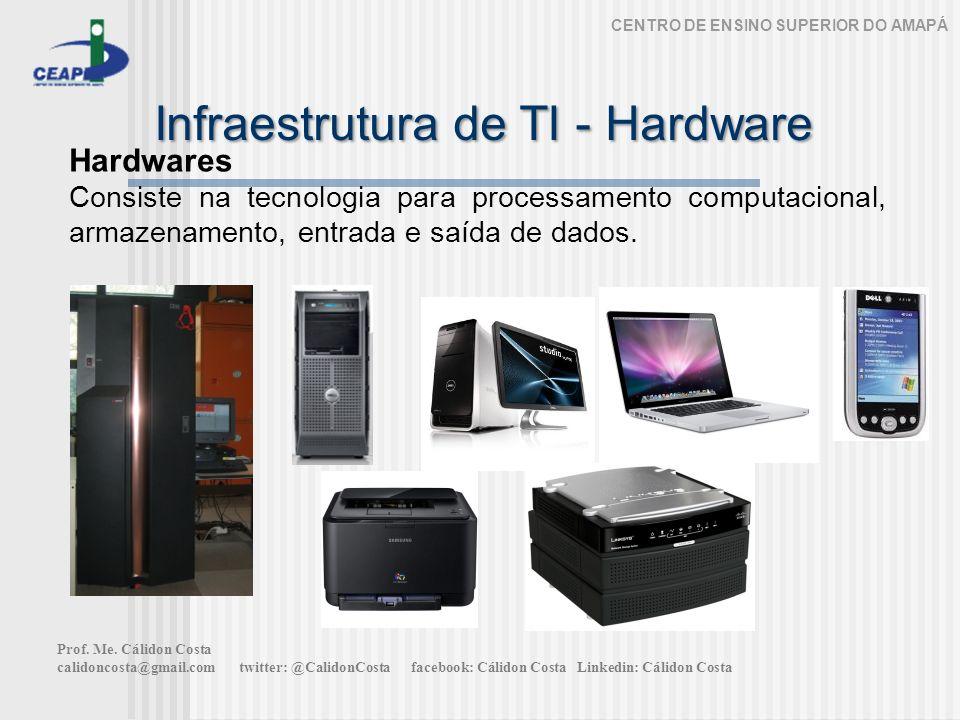 Infraestrutura de TI - Hardware CENTRO DE ENSINO SUPERIOR DO AMAPÁ Hardwares Consiste na tecnologia para processamento computacional, armazenamento, entrada e saída de dados.