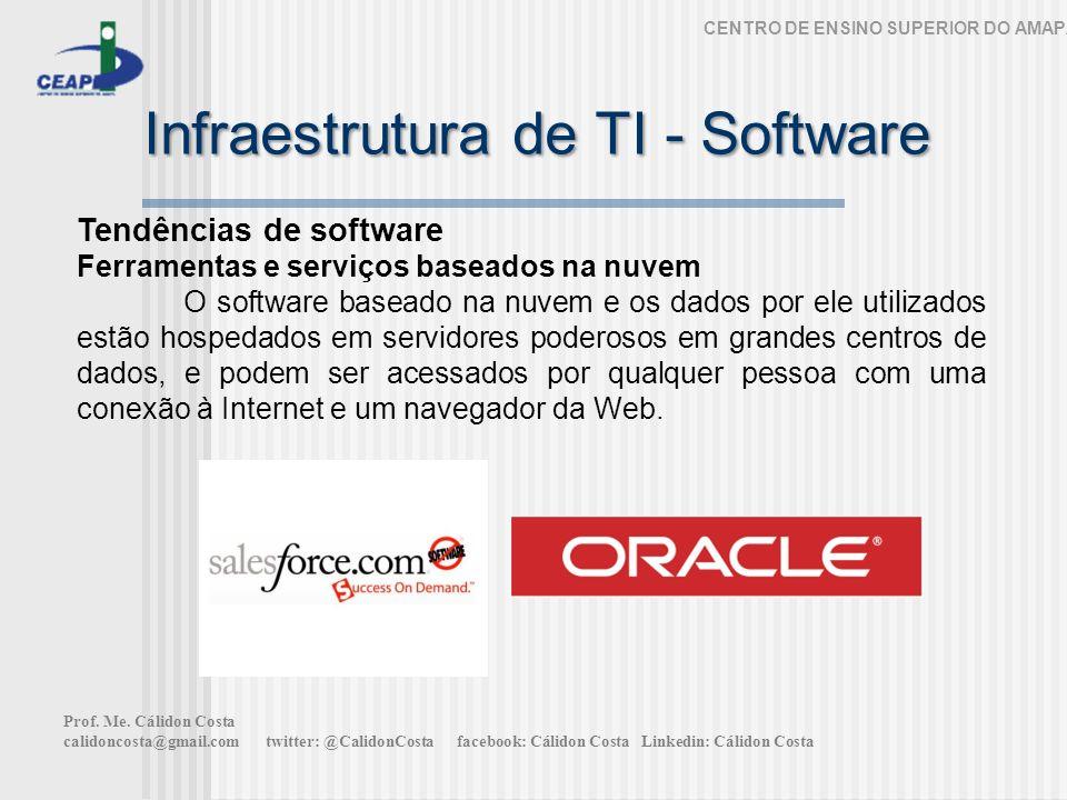 Infraestrutura de TI - Software CENTRO DE ENSINO SUPERIOR DO AMAPÁ Tendências de software Ferramentas e serviços baseados na nuvem O software baseado