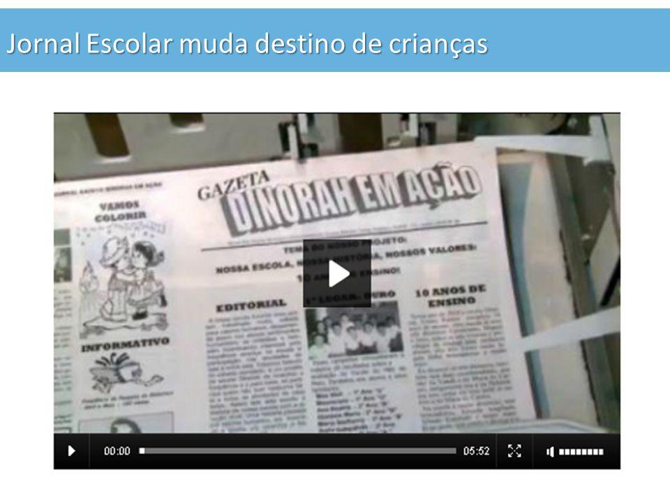 Jornal Escolar muda destino de crianças