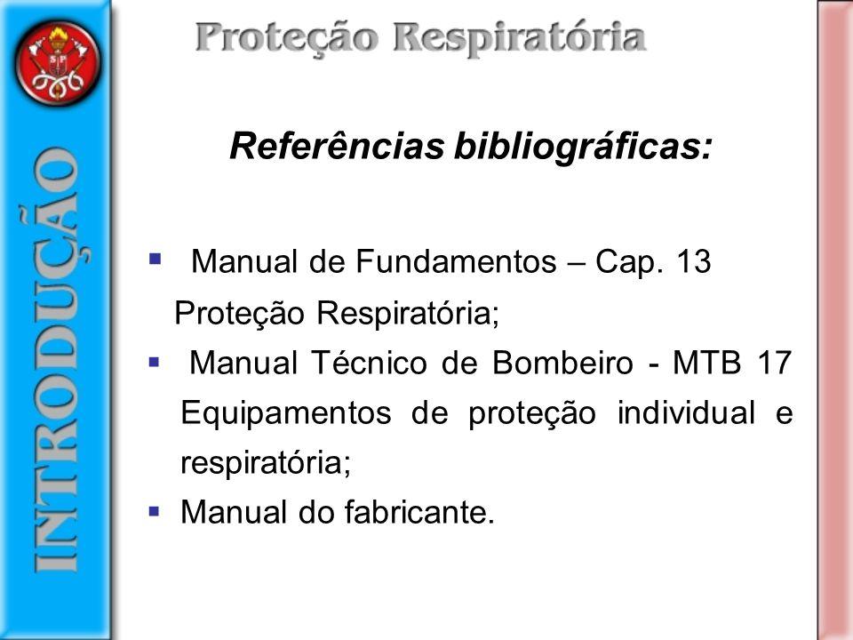 Referências bibliográficas: Manual de Fundamentos – Cap.