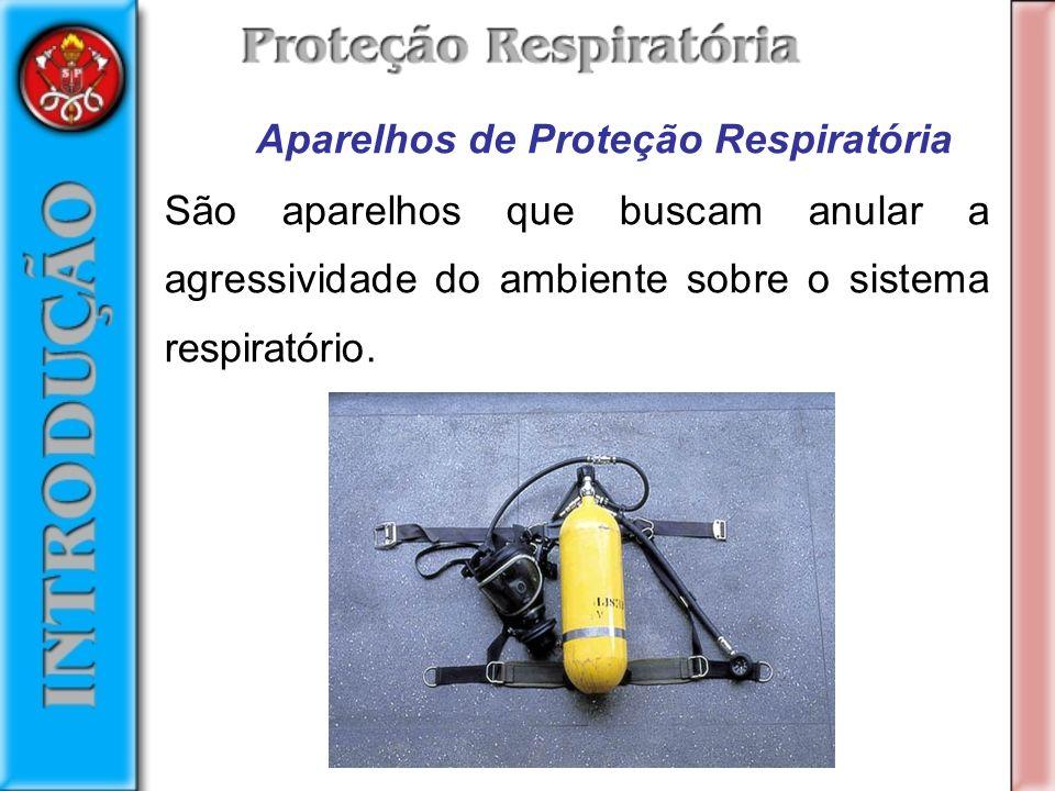 Aparelhos de Proteção Respiratória São aparelhos que buscam anular a agressividade do ambiente sobre o sistema respiratório.
