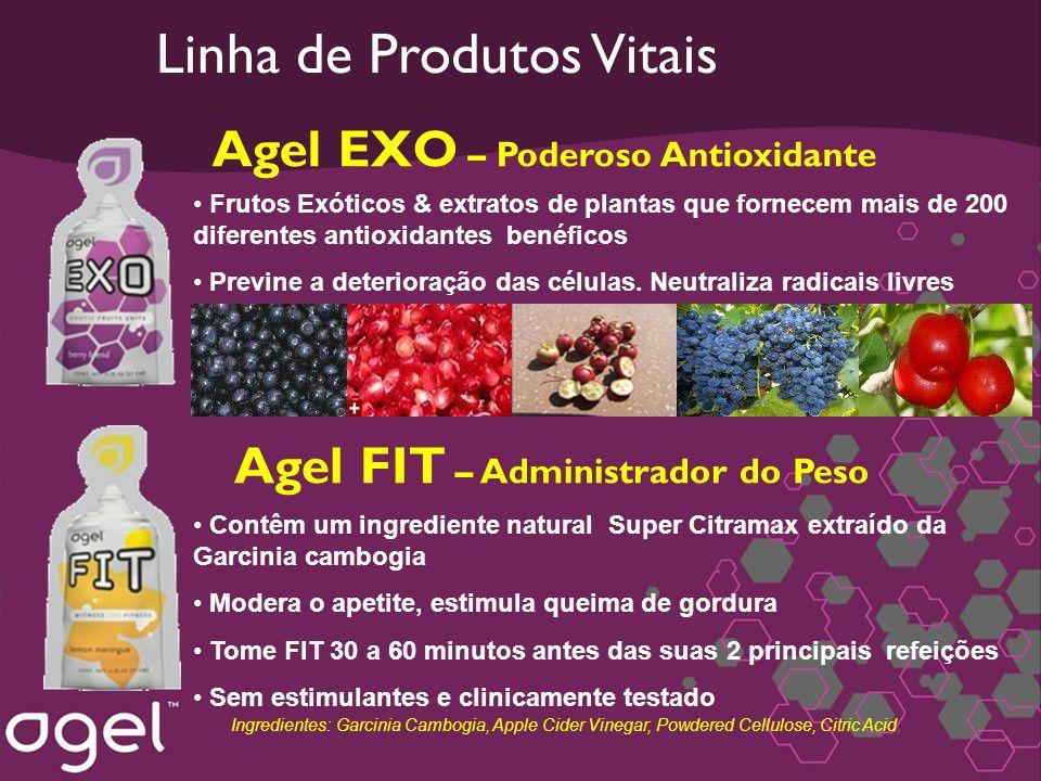 Frutos Exóticos & extratos de plantas que fornecem mais de 200 diferentes antioxidantes benéficos Previne a deterioração das células. Neutraliza radic