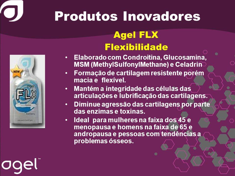 Produtos Inovadores Agel FLX Flexibilidade Elaborado com Condroitina, Glucosamina, MSM (MethylSulfonylMethane) e Celadrin Formação de cartilagem resis