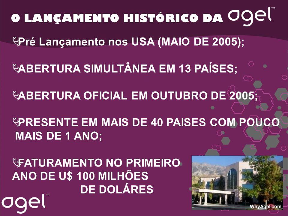 O LANÇAMENTO HISTÓRICO DA Pré Lançamento nos USA (MAIO DE 2005); ABERTURA SIMULTÂNEA EM 13 PAÍSES; ABERTURA OFICIAL EM OUTUBRO DE 2005; PRESENTE EM MA