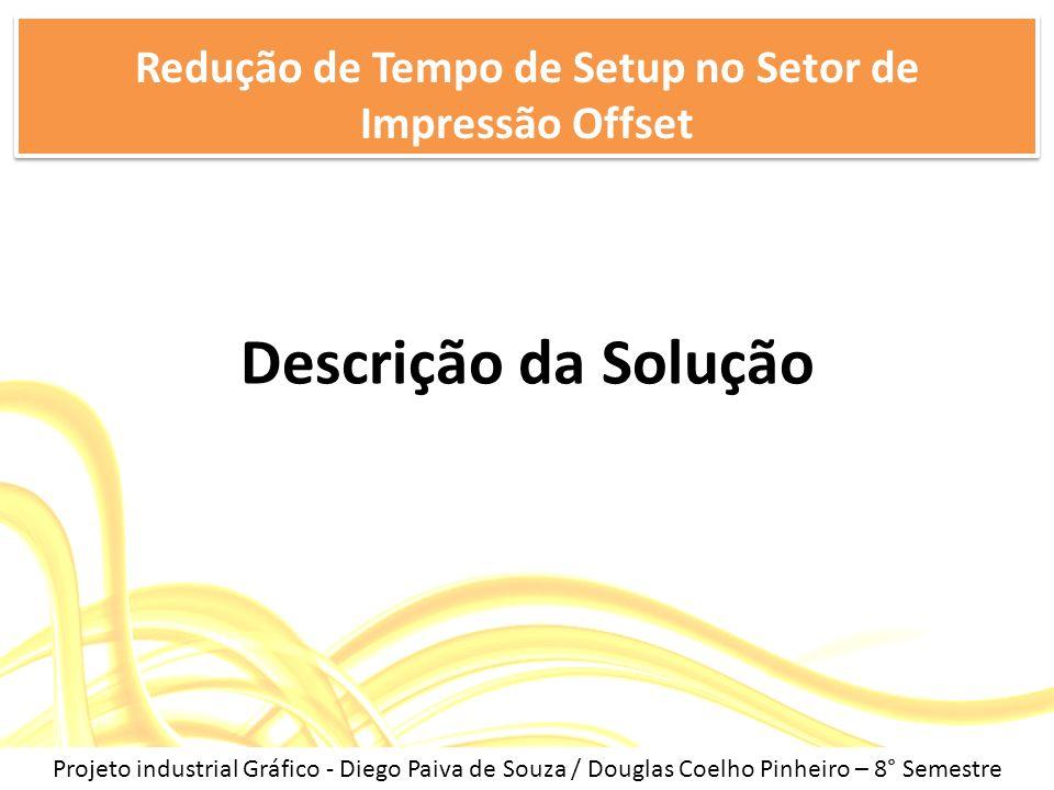 Descrição da Solução Redução de Tempo de Setup no Setor de Impressão Offset Projeto industrial Gráfico - Diego Paiva de Souza / Douglas Coelho Pinheir