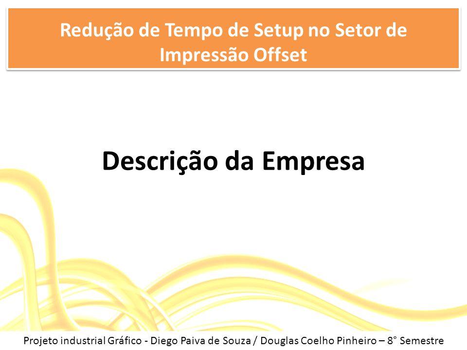 Descrição da Empresa Redução de Tempo de Setup no Setor de Impressão Offset Projeto industrial Gráfico - Diego Paiva de Souza / Douglas Coelho Pinheir