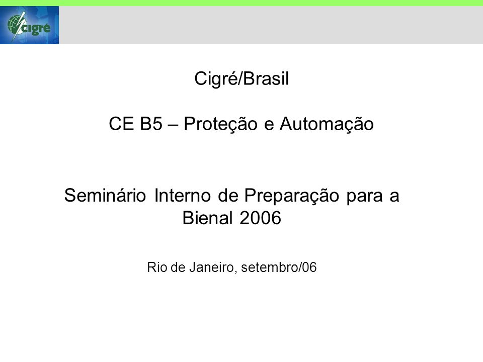 Dados do Artigo Número: B5-215 Título: Evolution in the Spanish power system: new protection coordination criteria and critical clearing time calculation methodology Autoria: J.