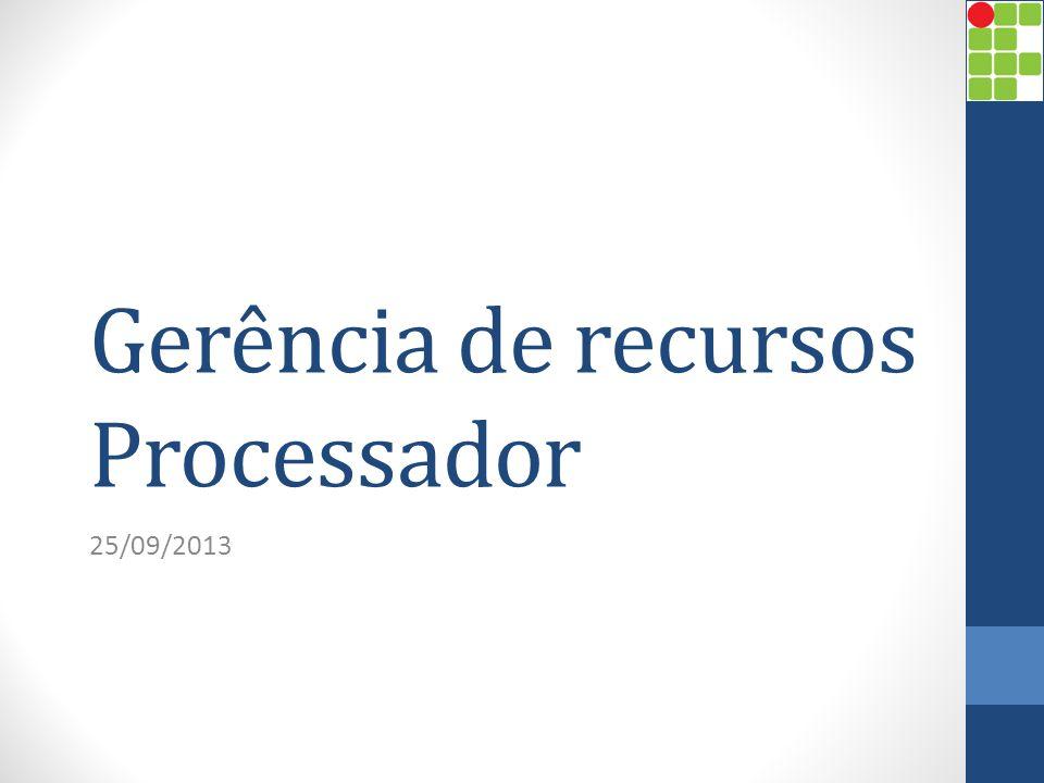 Gerência de recursos Processador 25/09/2013