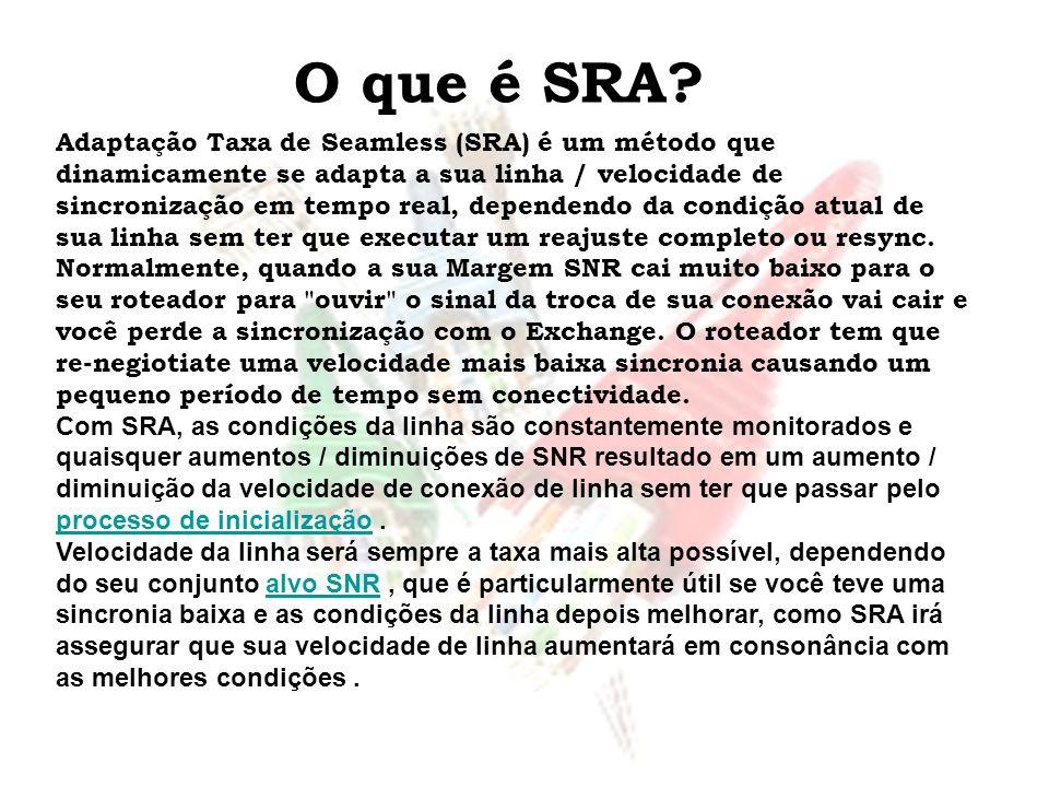O que é SRA? Adaptação Taxa de Seamless (SRA) é um método que dinamicamente se adapta a sua linha / velocidade de sincronização em tempo real, depende