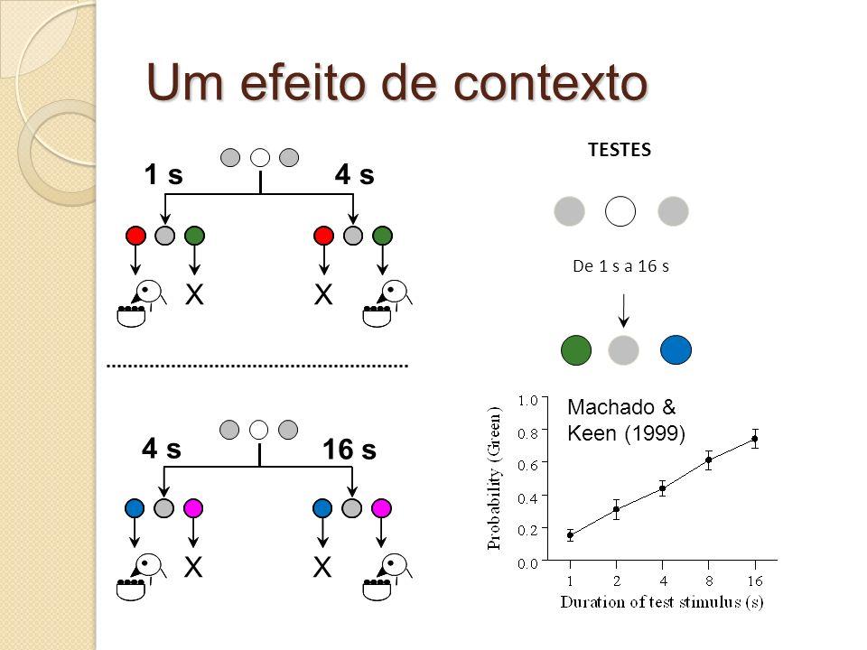 Um efeito de contexto TESTES De 1 s a 16 s 4 s 16 s XX 4 s XX 1 s