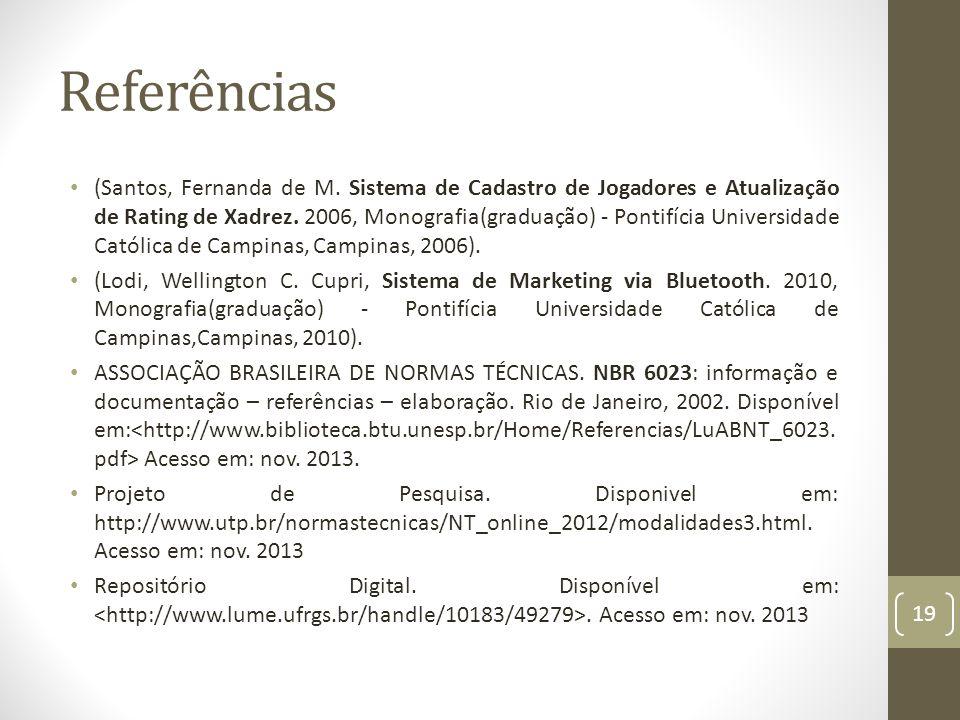 Referências (Santos, Fernanda de M.