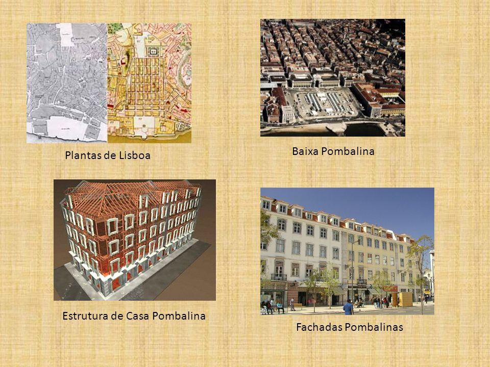 Plantas de Lisboa Baixa Pombalina Fachadas Pombalinas Estrutura de Casa Pombalina