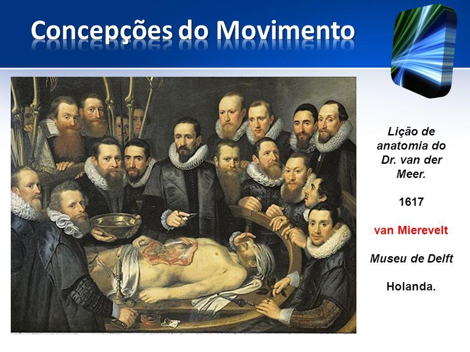 Lição de anatomia do Dr. van der Meer. 1617 van Mierevelt Museu de Delft Holanda.