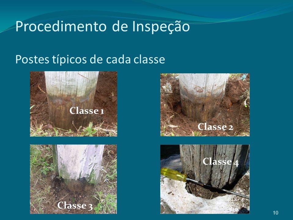 10 Procedimento de Inspeção Postes típicos de cada classe Classe 1 Classe 2 Classe 3 Classe 4