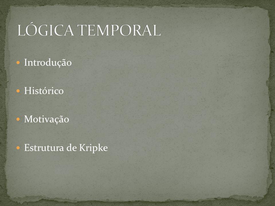 Introdução Histórico Motivação Estrutura de Kripke