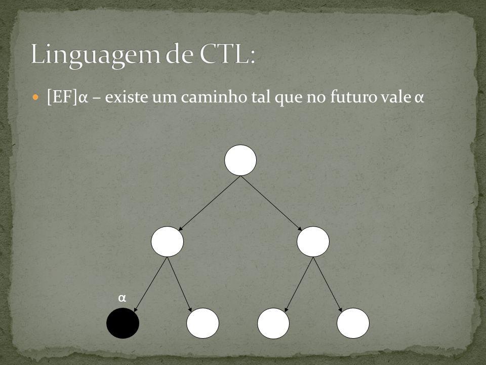 [EF]α – existe um caminho tal que no futuro vale α α
