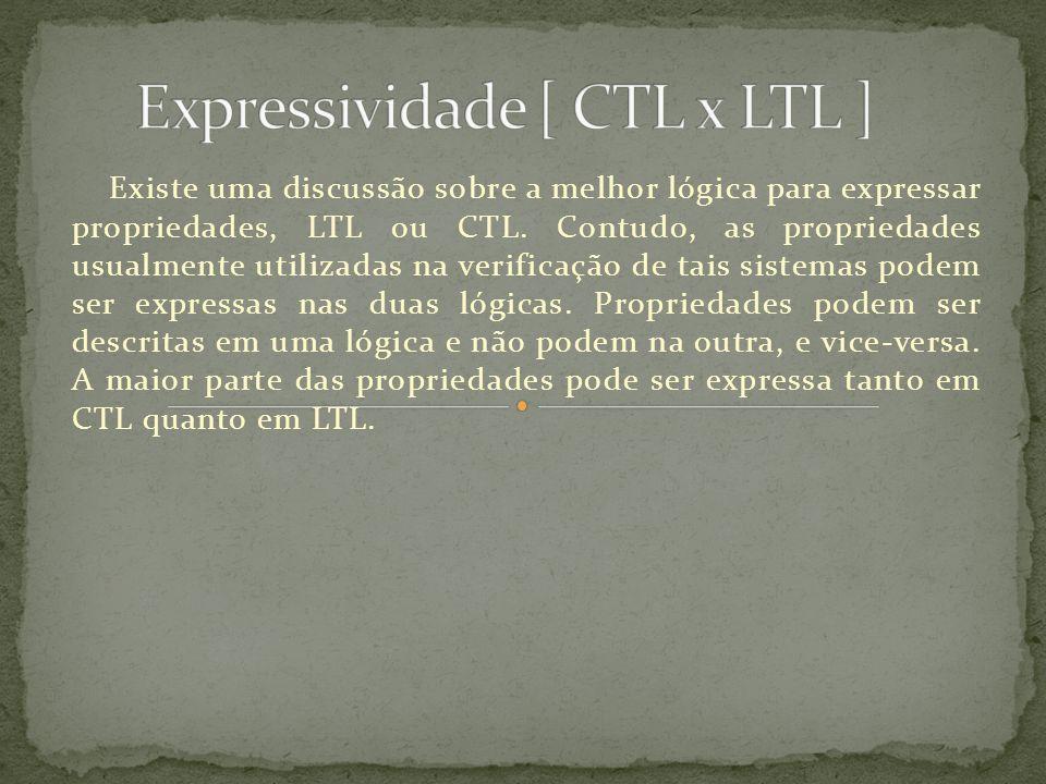 Existe uma discussão sobre a melhor lógica para expressar propriedades, LTL ou CTL. Contudo, as propriedades usualmente utilizadas na verificação de t