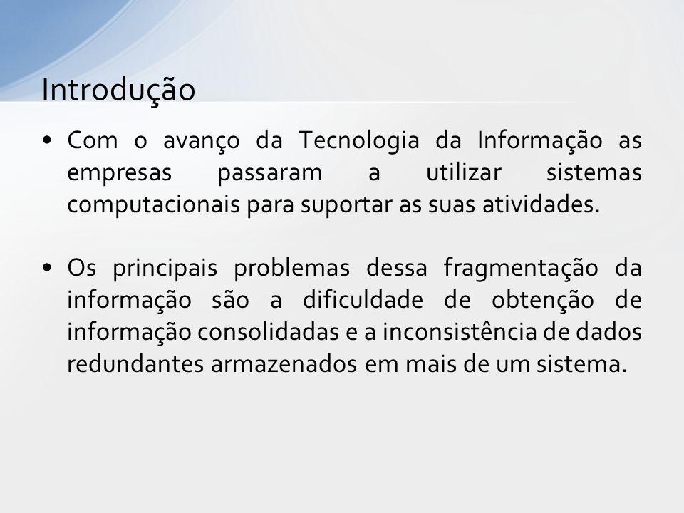 Com o avanço da Tecnologia da Informação as empresas passaram a utilizar sistemas computacionais para suportar as suas atividades.