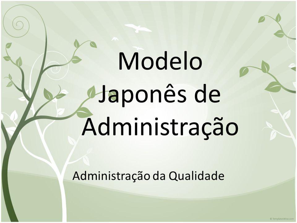 Modelo Japonês de Administração Administração da Qualidade