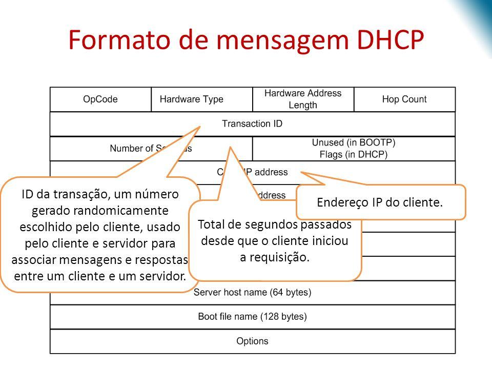 ID da transação, um número gerado randomicamente escolhido pelo cliente, usado pelo cliente e servidor para associar mensagens e respostas entre um cl