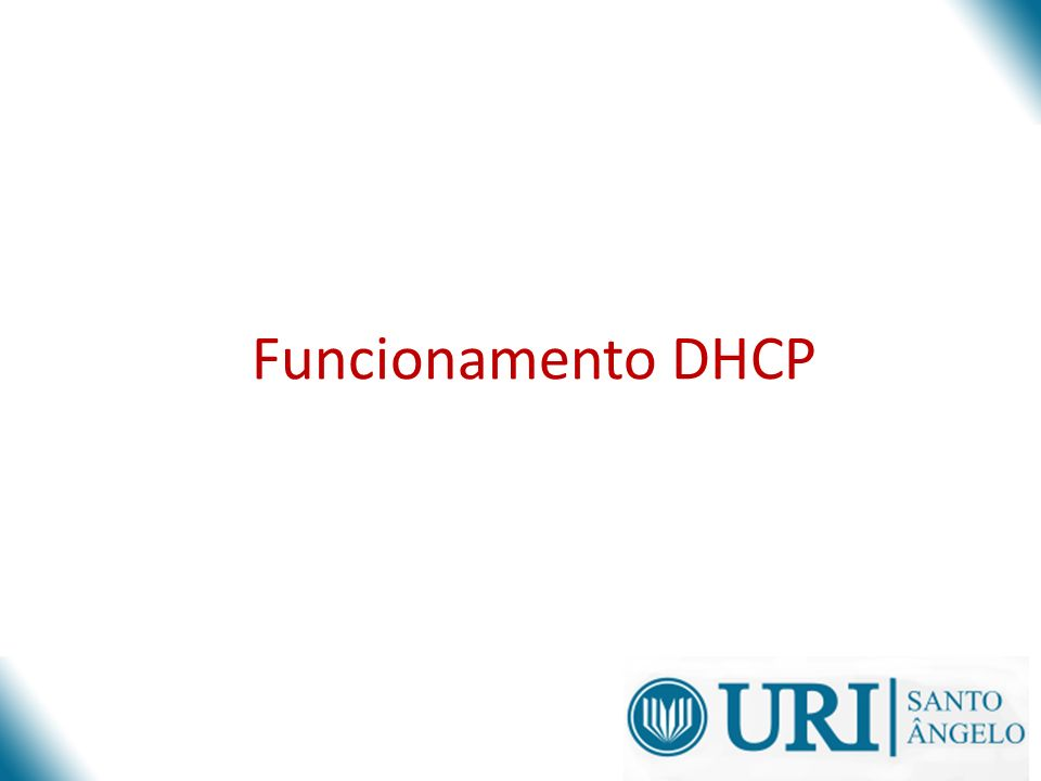 Funcionamento DHCP