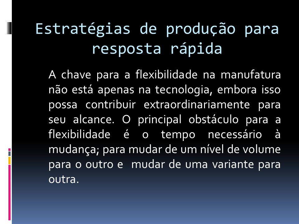 Estratégias de produção para resposta rápida A chave para a flexibilidade na manufatura não está apenas na tecnologia, embora isso possa contribuir extraordinariamente para seu alcance.