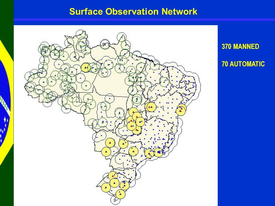 Distribution of the new AWS 145 AWS were received Estação Convencional Estação Automática Estação Projetada