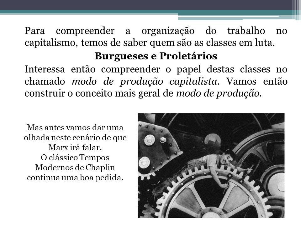Para compreender a organização do trabalho no capitalismo, temos de saber quem são as classes em luta. Burgueses e Proletários Interessa então compree