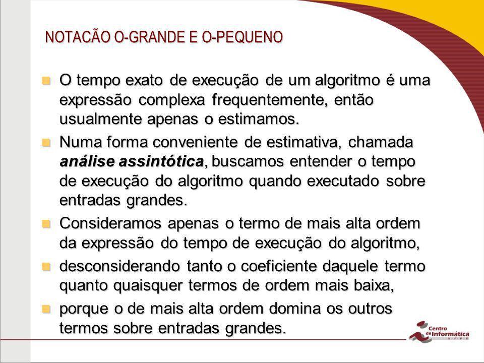NOTACÃO O-GRANDE E O-PEQUENO