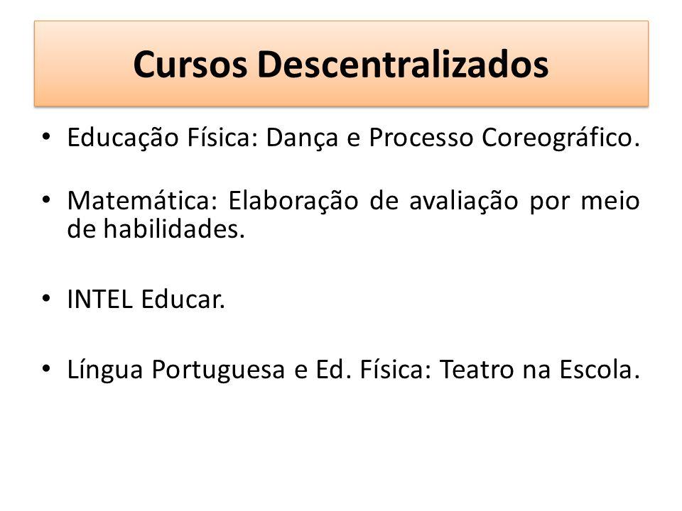 Cursos Descentralizados Educação Física: Dança e Processo Coreográfico.