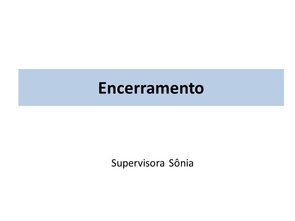 Encerramento Supervisora Sônia