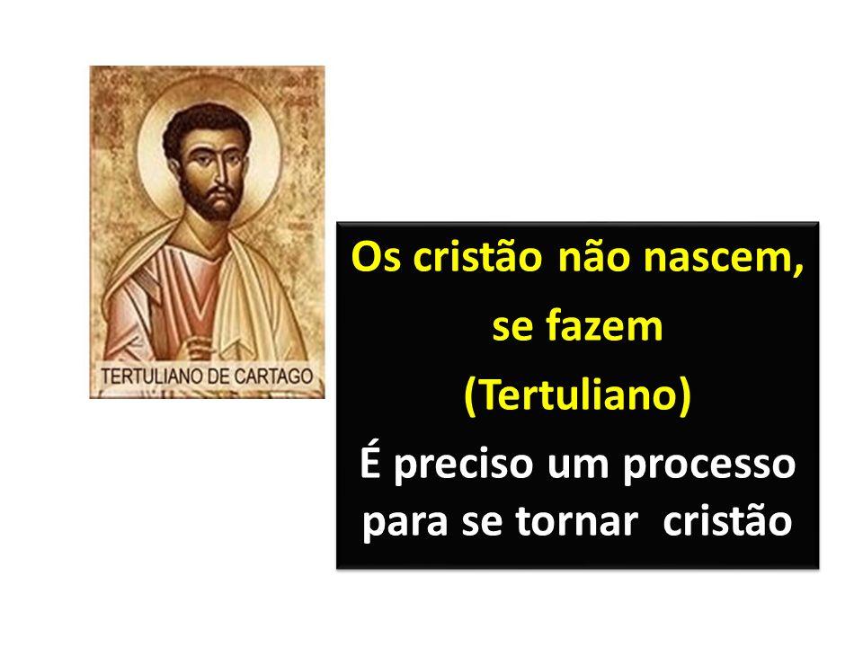 Os cristão não nascem, se fazem (Tertuliano) É preciso um processo para se tornar cristão Os cristão não nascem, se fazem (Tertuliano) É preciso um processo para se tornar cristão