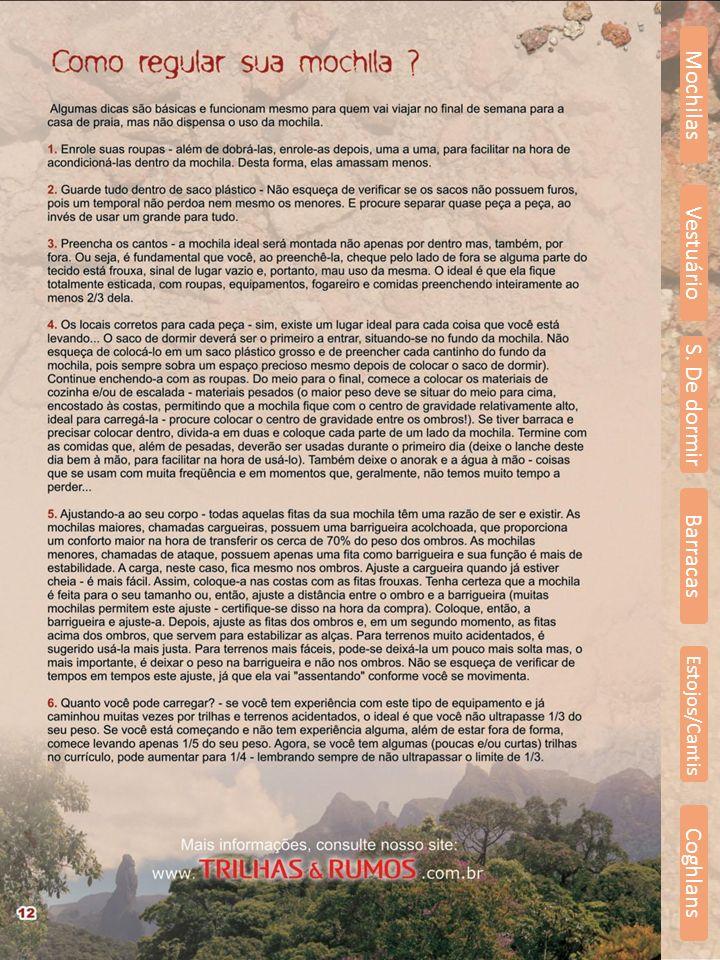 Mochilas Vestuário S. De dormir Barracas Estojos/Cantis Coghlans