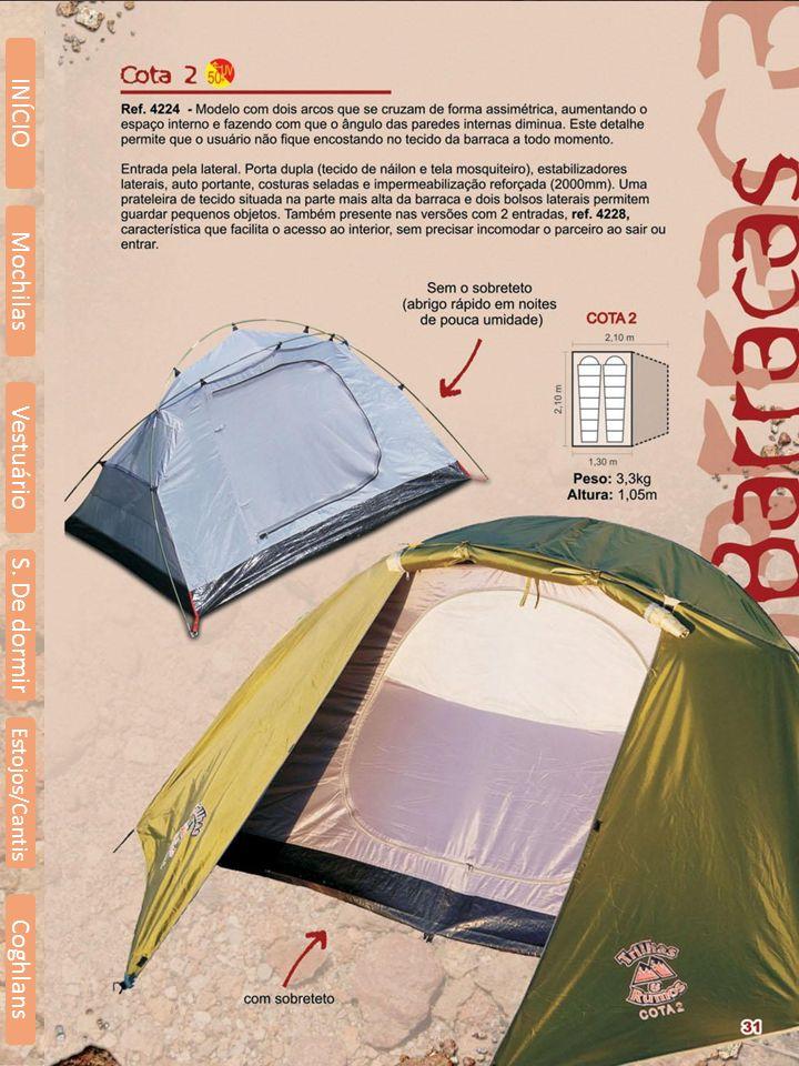 Mochilas Vestuário S. De dormir INÍCIO Estojos/Cantis Coghlans