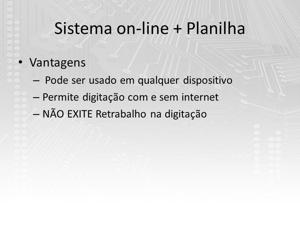 Vantagens – Pode ser usado em qualquer dispositivo – Permite digitação com e sem internet – NÃO EXITE Retrabalho na digitação