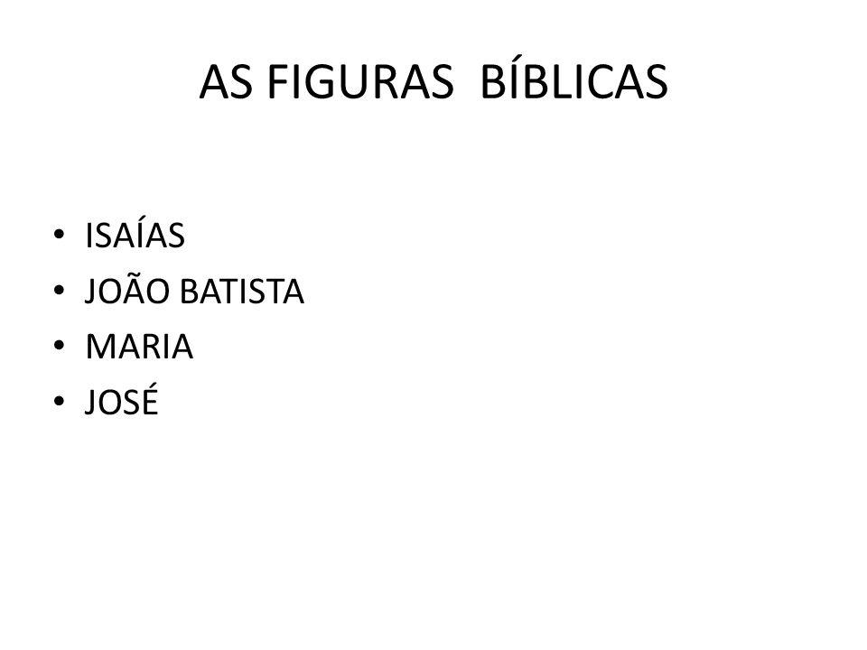 AS FIGURAS BÍBLICAS ISAÍAS JOÃO BATISTA MARIA JOSÉ