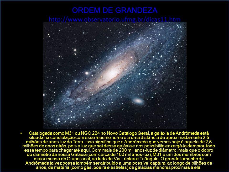 Catalogada como M31 ou NGC 224 no Novo Catálogo Geral, a galáxia de Andrômeda está situada na constelação com esse mesmo nome e a uma distância de apr