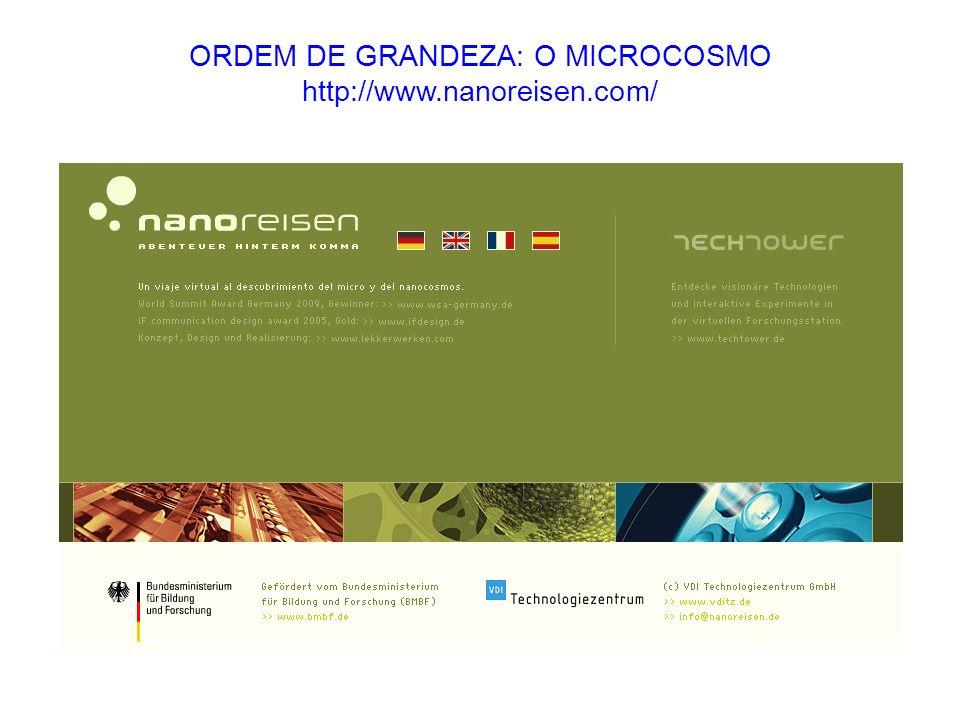 ORDEM DE GRANDEZA: O MICROCOSMO http://www.nanoreisen.com/