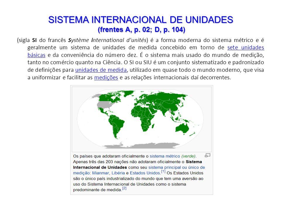 (sigla SI do francês Système international d'unités) é a forma moderna do sistema métrico e é geralmente um sistema de unidades de medida concebido em