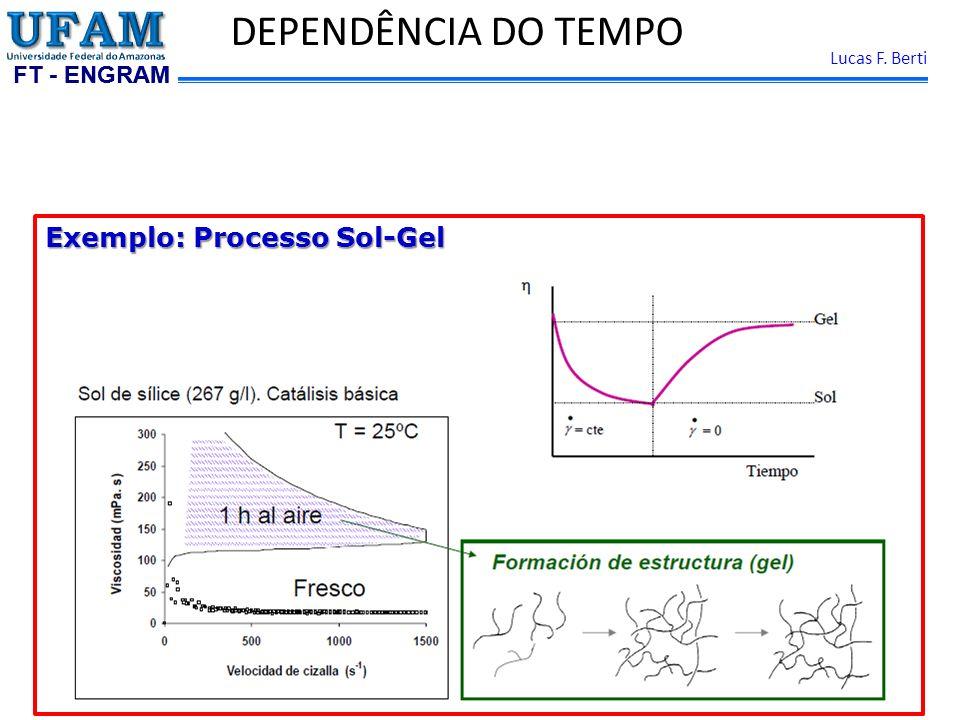 FT - ENGRAM Lucas F. Berti DEPENDÊNCIA DO TEMPO Exemplo: Processo Sol-Gel