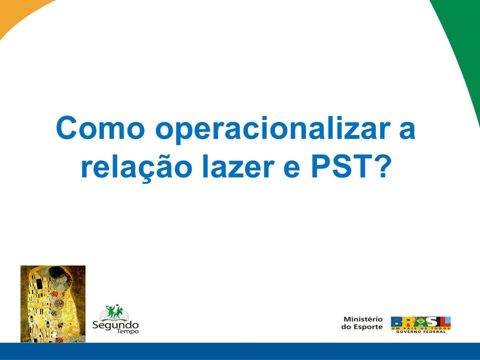 Como operacionalizar a relação lazer e PST?