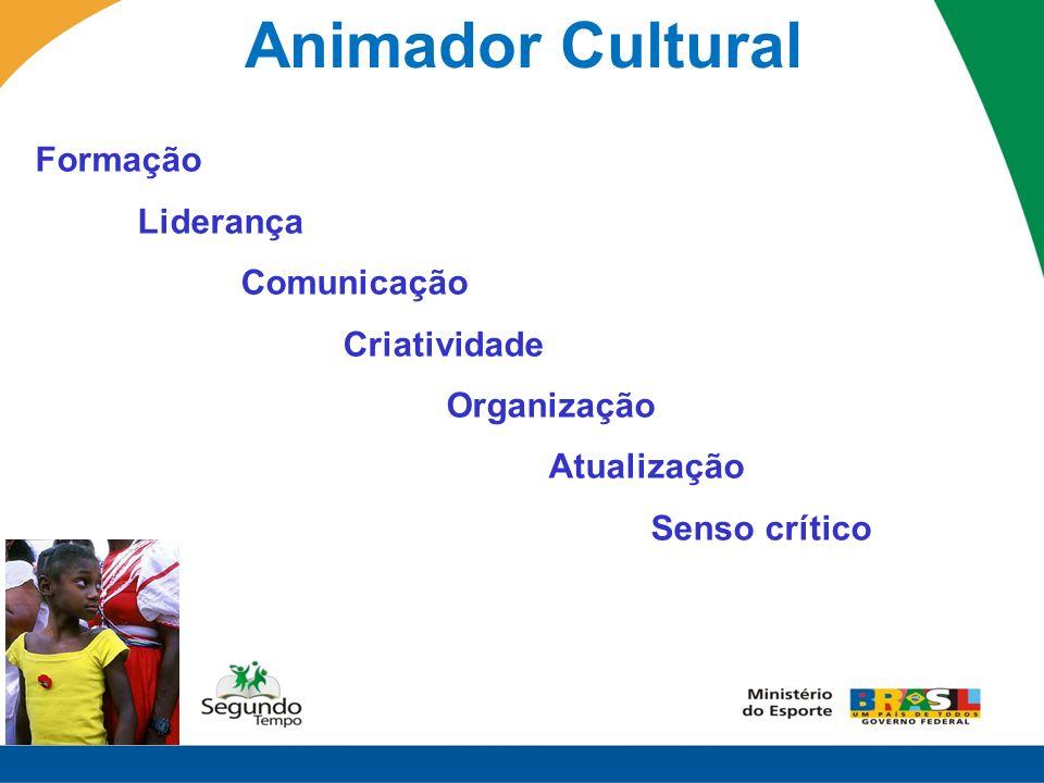 Animador Cultural Formação Liderança Comunicação Criatividade Organização Atualização Senso crítico