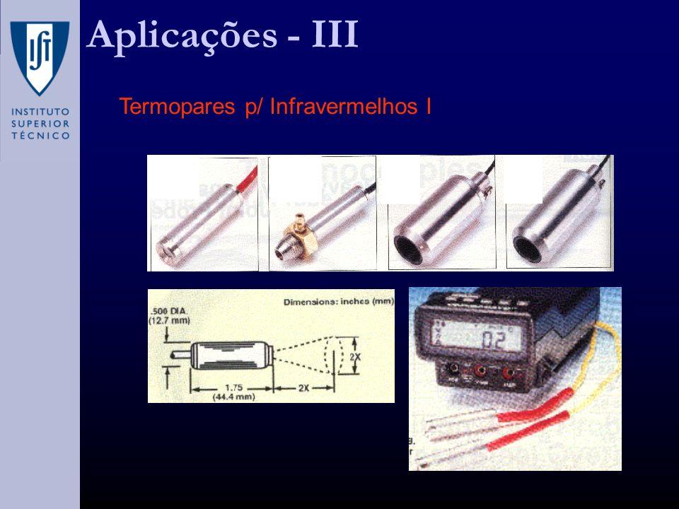Termopares p/ Infravermelhos I Aplicações - III