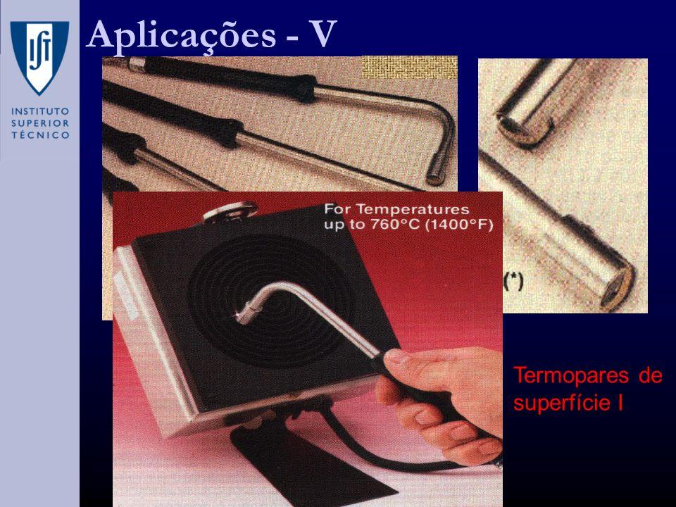 Aplicações - V Termopares de superfície I