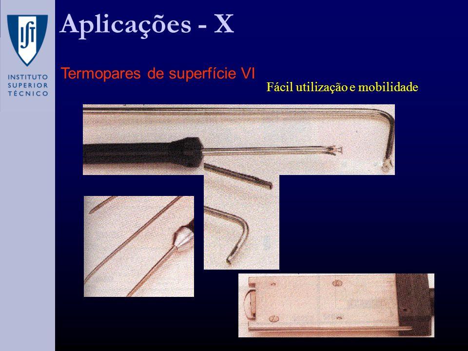 Fácil utilização e mobilidade Aplicações - X Termopares de superfície VI