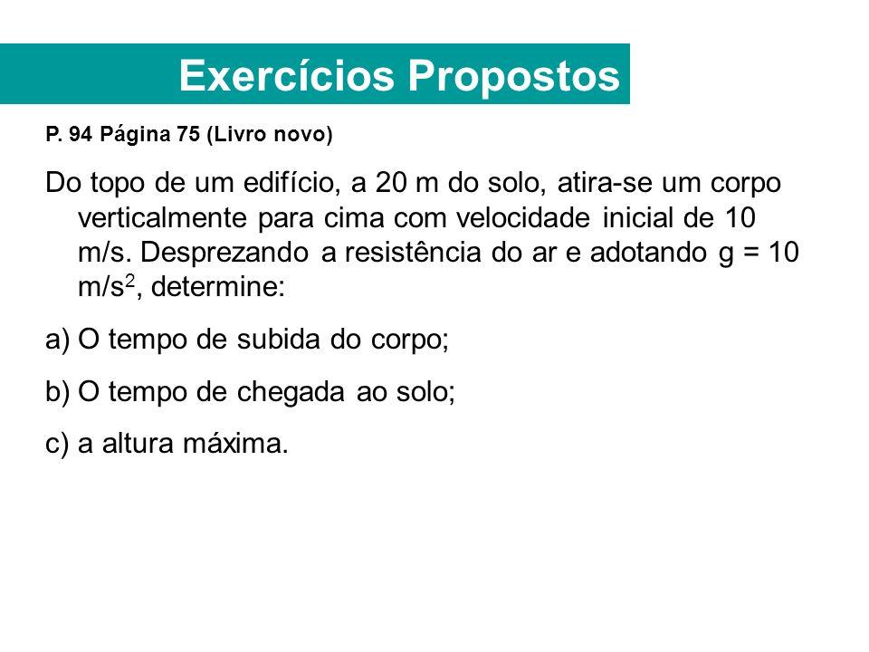 Exercícios Propostos P.