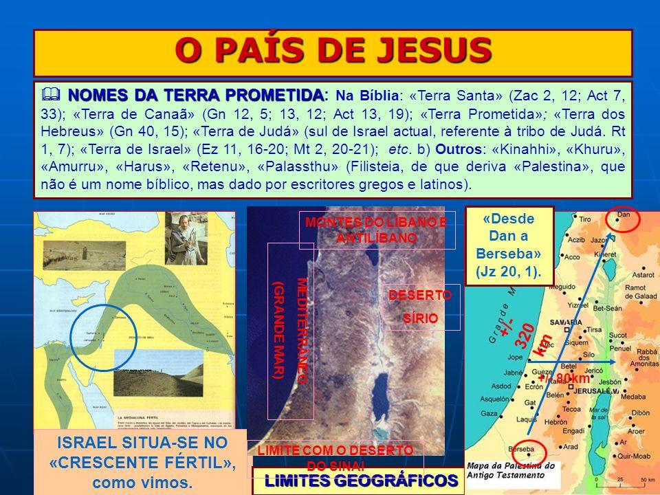 O PAÍS DE JESUS NOMES DA TERRA PROMETIDA NOMES DA TERRA PROMETIDA: Na Bíblia: «Terra Santa» (Zac 2, 12; Act 7, 33); «Terra de Canaã» (Gn 12, 5; 13, 12