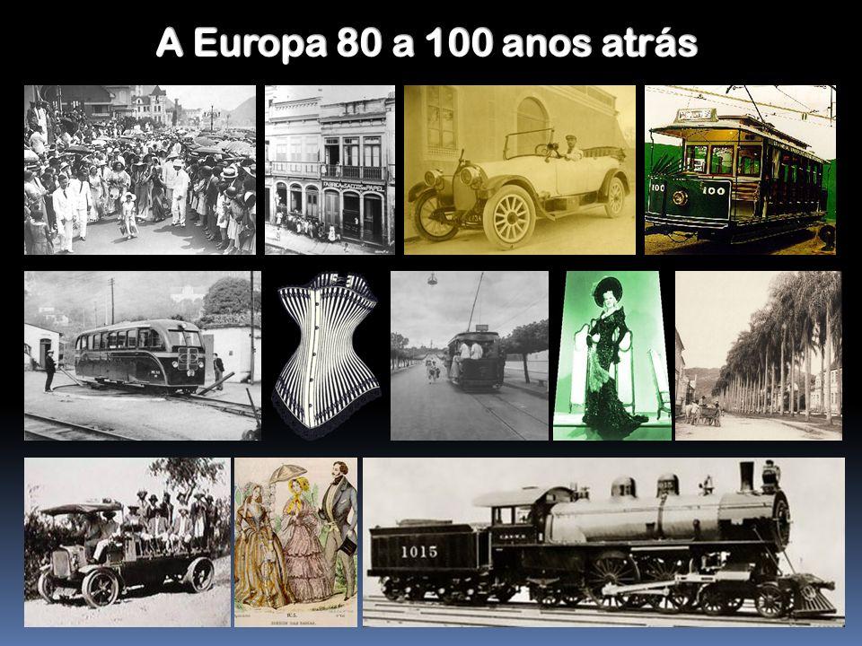 Repararam como o modo de vida se alterou nos últimos 100 anos.