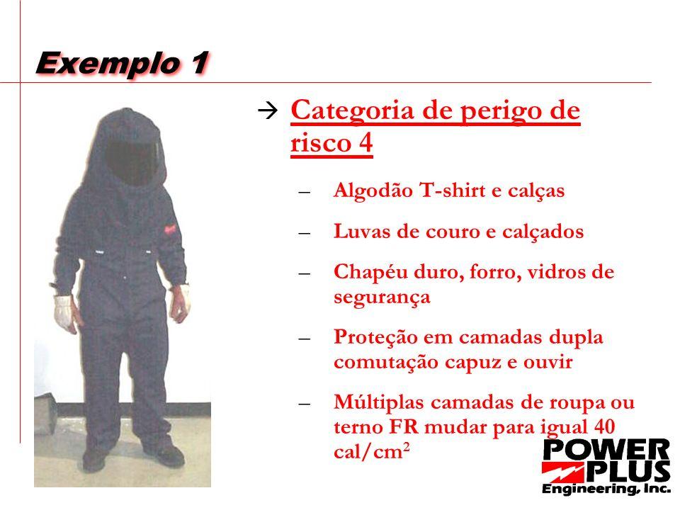 Exemplo 1 O Equipamento de Proteção Individual (EPI) necessários para executar uma tarefa dentro do limite do perigo flash é ser determinado a partir