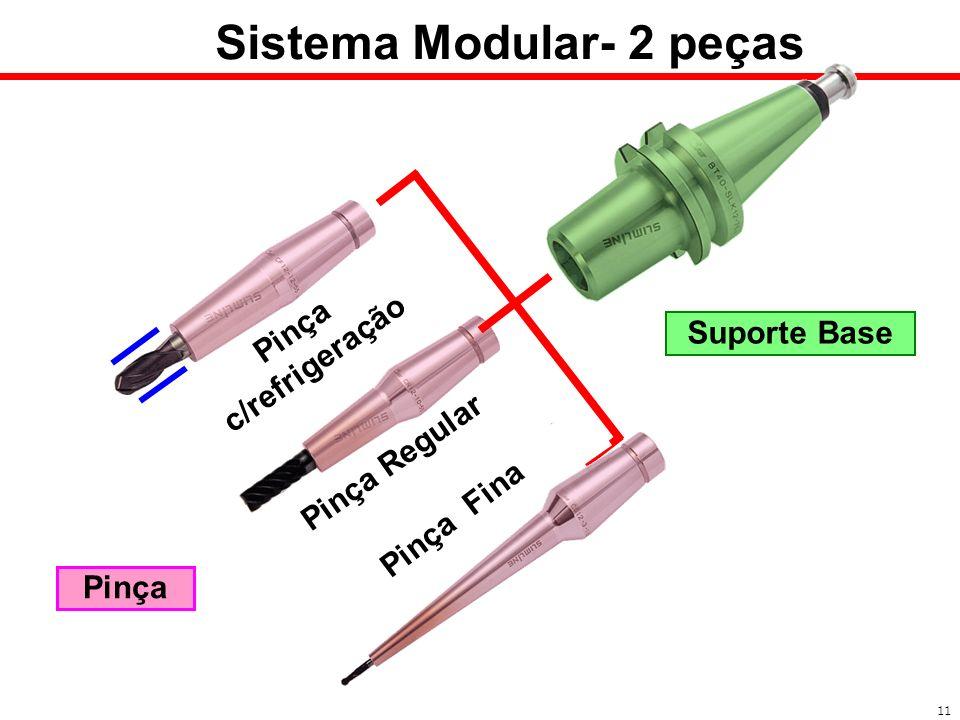 Pinça c/refrigeração Pinça Regular Sistema Modular- 2 peças 11 Pinça Suporte Base Pinça Fina